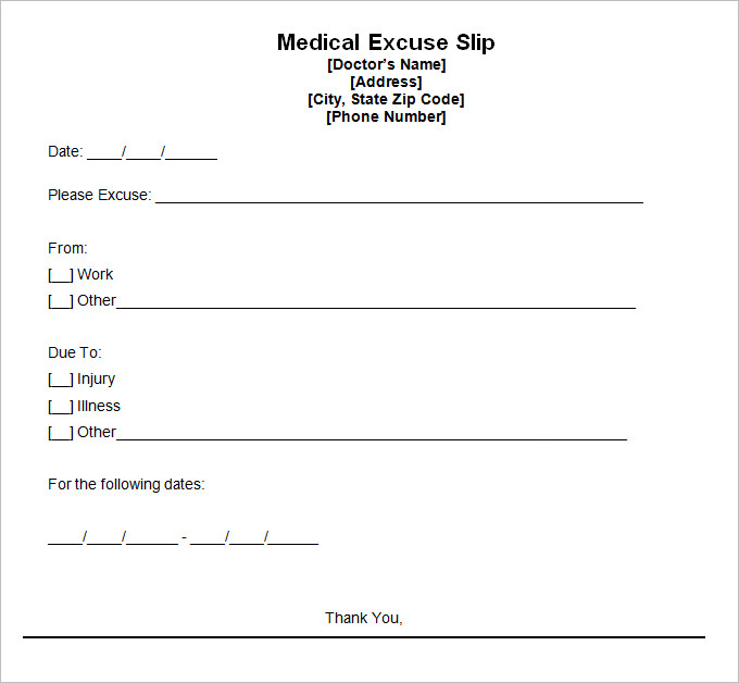 Mesmerizing image with regard to printable doctors excuses