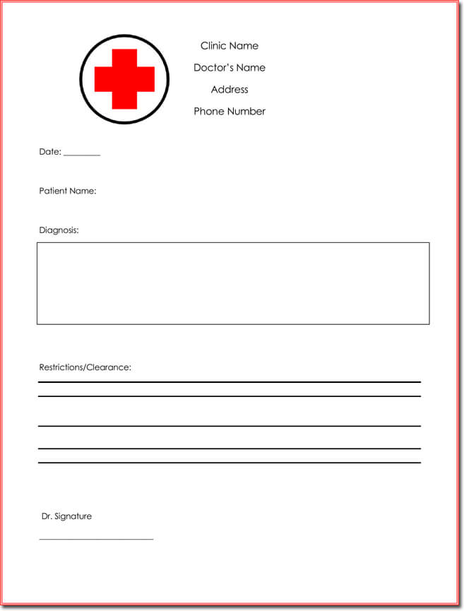 Fake Doctor Note Templates Eight