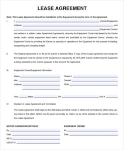 Lease Agreement Template Seven