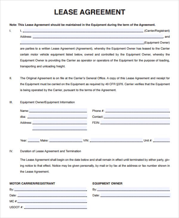Download Free Basic Rental Agreement Template Every Last