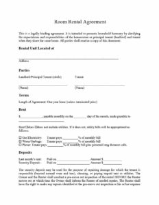 Room Rental Agreement Template Five
