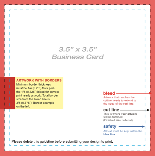 Blank Business Card Template Five