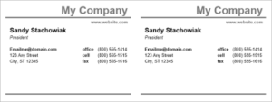 Business Card Template ( Front and Back) Two