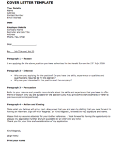 Free Sample Cover Letter For Job Application One