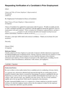Request Employment Verification Letter from Employer 1