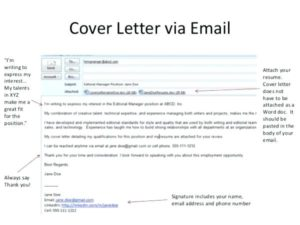 free cover letter via email