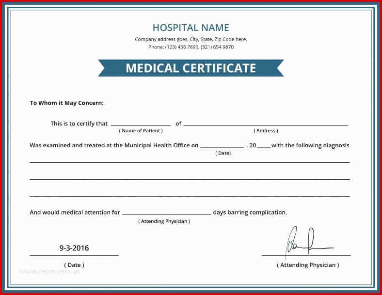 Fake Medical Certificates Two