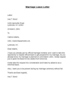 Marriage-Leave-Letter-Format Three
