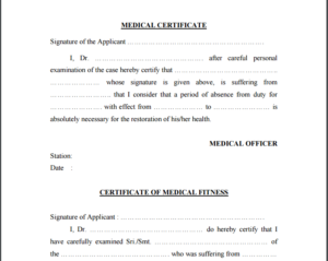 Medical Certificates for Work Three