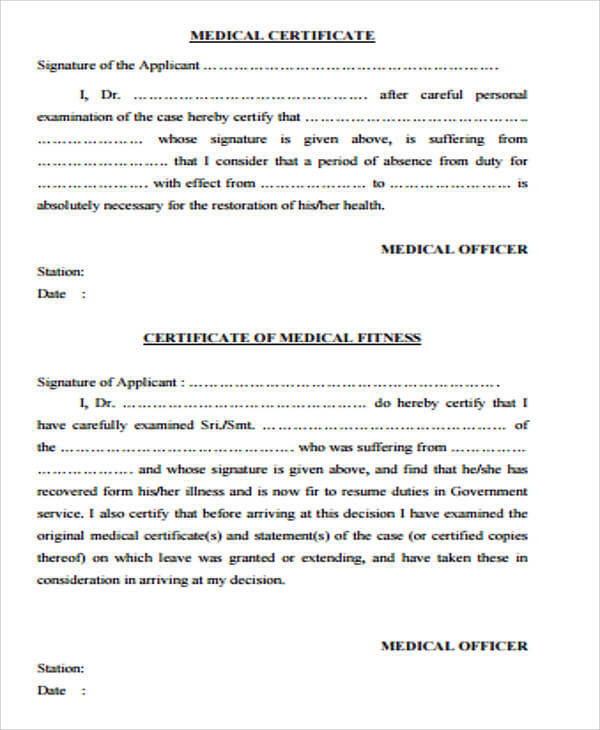 5  genuine  fake medical certificate online
