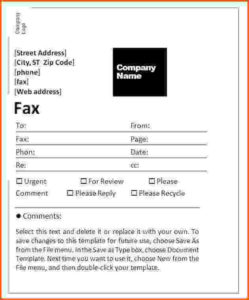 Professional Fax Cover Sheet template three