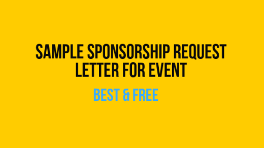 Sample Sponsorship Request Letter for Event