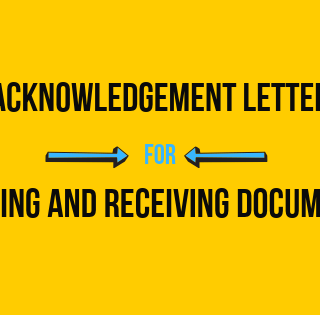 Acknowledgement Letter