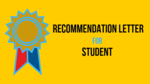 letter of recommendation for school student