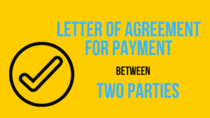 Letter-of-Agreement-for-Payment-between-Two-Parties
