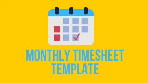 Monthly-Timesheet-Template